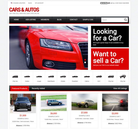 10+ Responsive Car Dealer WordPress Themes
