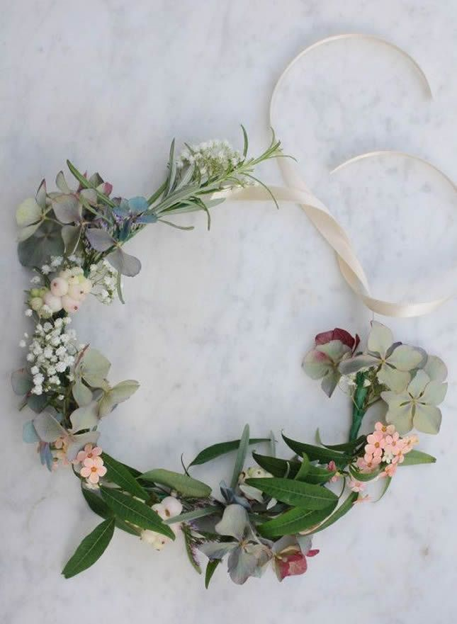 13 Flower Crowns for Your Boho Wedding via Brit + Co.