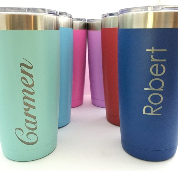 #Personalized Insulated #Tumbler 20oz Brighten up someones day with a gift of our brand new colorful tumblers! The double insulated walls keep your drinks hot or cold for ho... #thepersonalexchange #monogram #accessories #bartender #blue #graduation #housewares #kitchen #lavender #mint #monogrammed #personalized #pink #present #purple #red #tumbler #turquoise #wine #yeti ➡️ http://jto.li/cCF4R