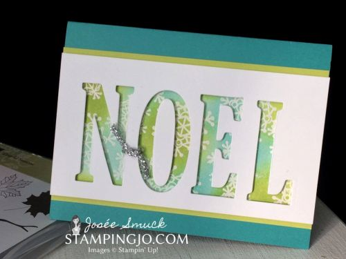 Colorful Season Noel Christmas Card