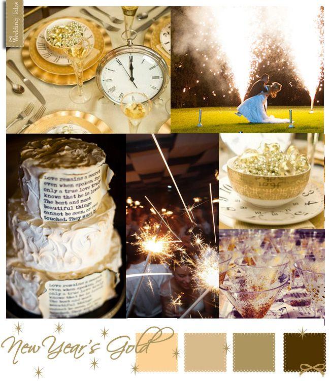 Wedding Moodboard | New Year's Gold