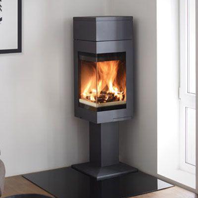 nordpeis quadro 1t wood burning stove corner stoves. Black Bedroom Furniture Sets. Home Design Ideas