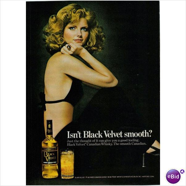 Magazine Ad 1975 Black Velvet Whisky