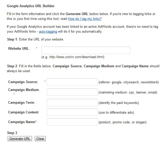 This is how you can set up a link for any marketing campaign you are running that will let you track the results in Google Analytics