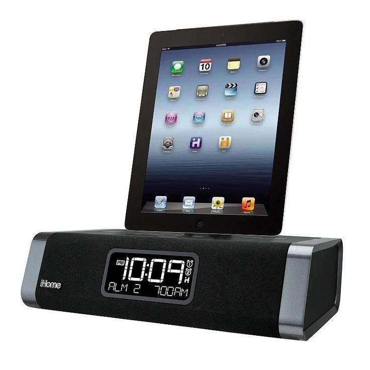 iHome App-Enhanced Dual Alarm Clock Radio, Multicolor #iphonealarmclock