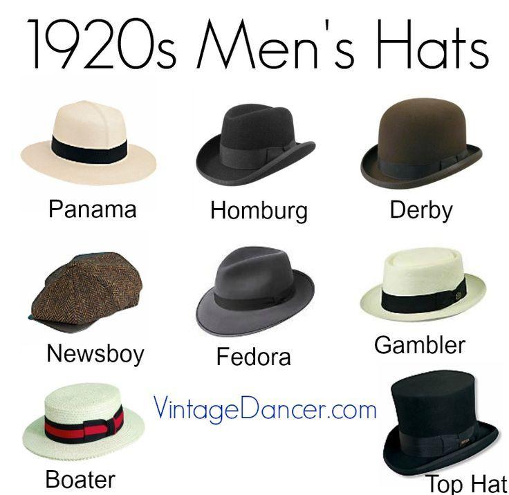 Kaufen Sie neue Herrenhüte im Stil der 1920er Jahre wie Strohhut, Panama, Gambler, … #1920e…