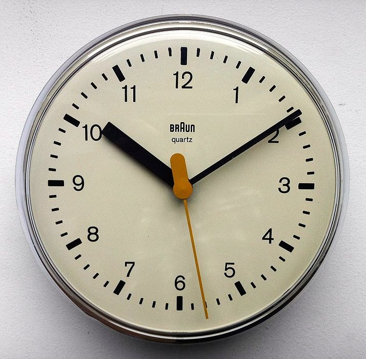 Dieter Rams and Dietrich Lubs, 4833 Wall Clock for Braun, 1979
