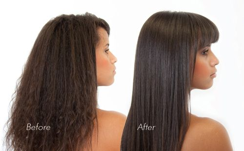 Keratin Hair Before And After Hair can be shampooed after
