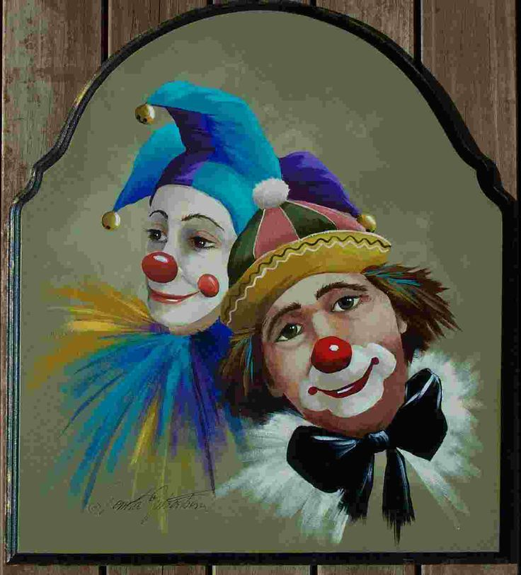Hobo Clown Painting | 066 - Jester & Clown