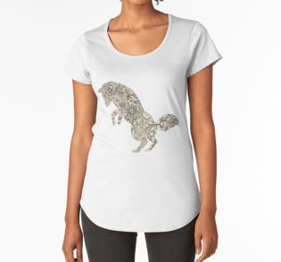 Lace Fox Women's Premium T-Shirt by I Love the Quirky