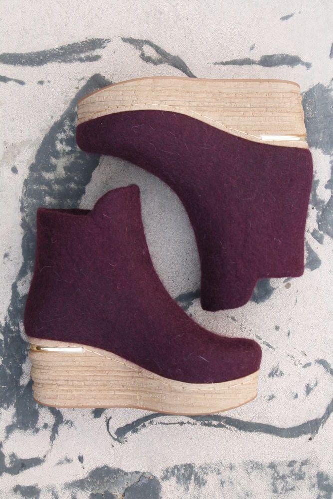 обувь из войлока, войлок для новичков