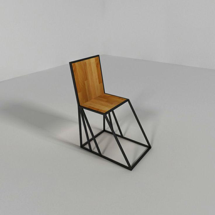 Chair, iron, steel, wood, krzesło, metal, drewno, Kraina ES #chair, #armchair, #ironchair, #krzesło, #fotel
