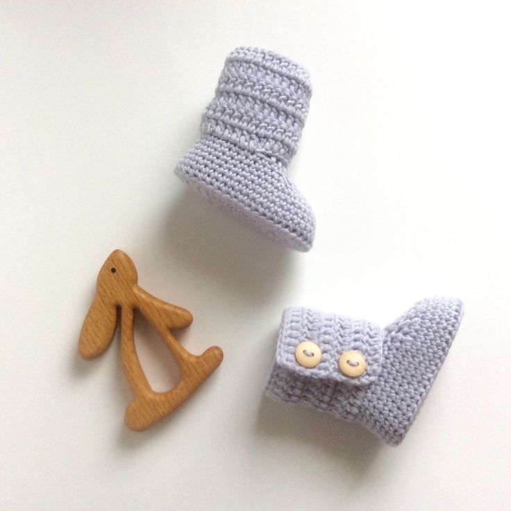 Look for our new platinum gray baby booties in store!