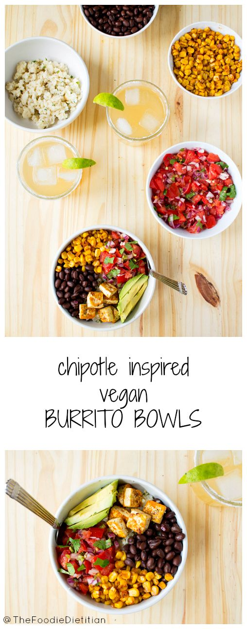 A Chipotle inspired vegan burrito bowl that's bursting with spices and flavor and is healthier than take-out!  | @TheFoodieDietitian