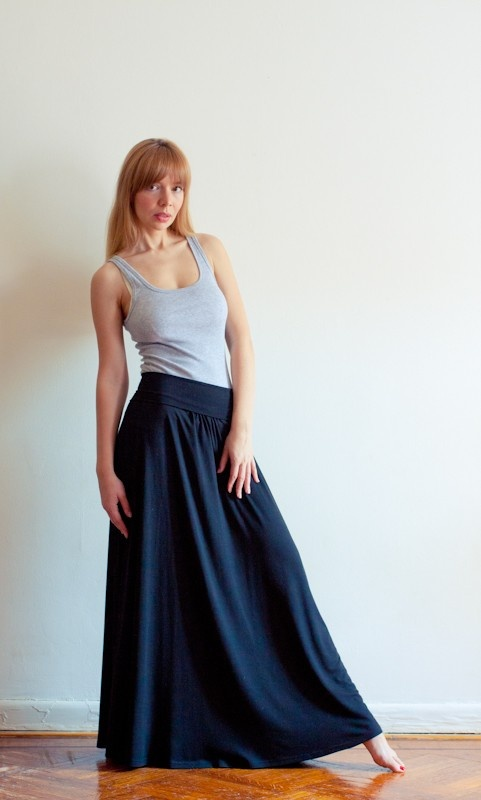 Sexy Jersey Maxi Skirt  A Must Have This Season  by LanaStepul, $65.00