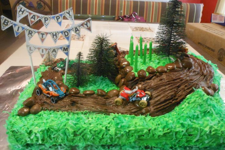 My grandsons 4 wheeler cake