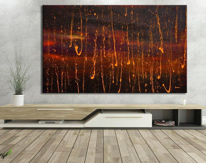 Large Abstract Painting Original Oil Canvas Art Poppy Etsy