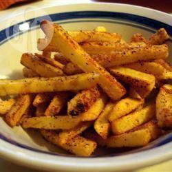 Foto recept: In de oven gebakken pittige friet