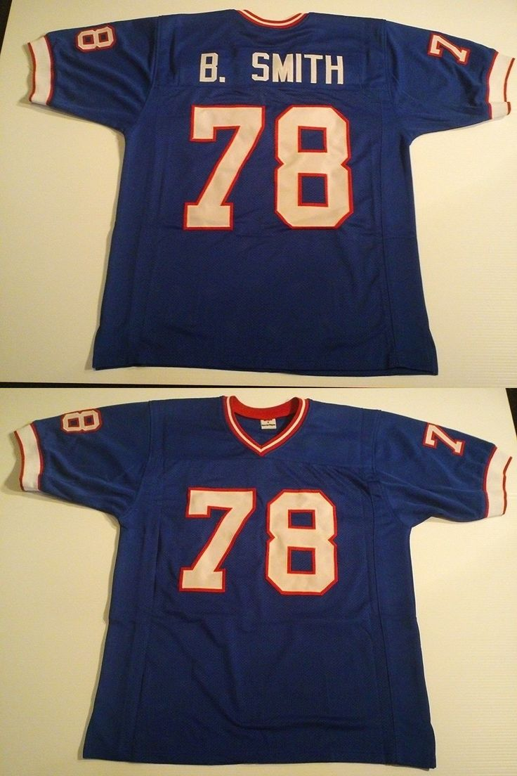Football-NFL 206: Unsigned Custom Sewn Stitched Bruce Smith Blue Jersey - M, L, Xl, 2Xl -> BUY IT NOW ONLY: $33.99 on eBay!