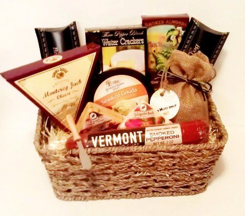 Pin by Karen Brown on Gift Baskets / Boxes | Cheese gifts, Cheese gift baskets, Gourmet cheese