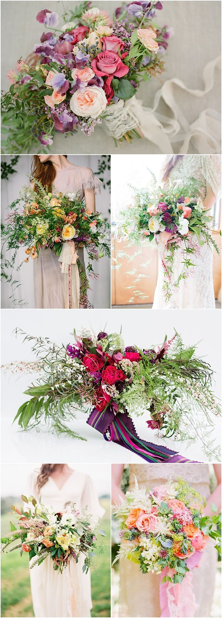 Wedding Ideas: How to Create Loose, Airy Wedding Bouquets