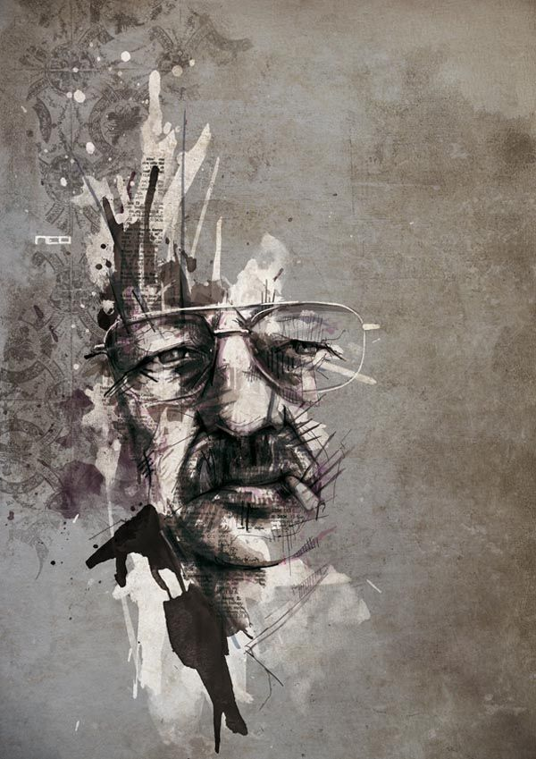 Illustrated portrait by  Florian Nicolle
