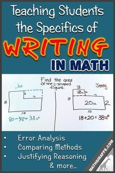 How to explicitly teach students to write clear, complete explanations in math class - and follow it up with immediate practice (examples included!)