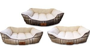 Groupon - AKC Classic Plaid Dog Cuddler Bed. Groupon deal price: $19.99