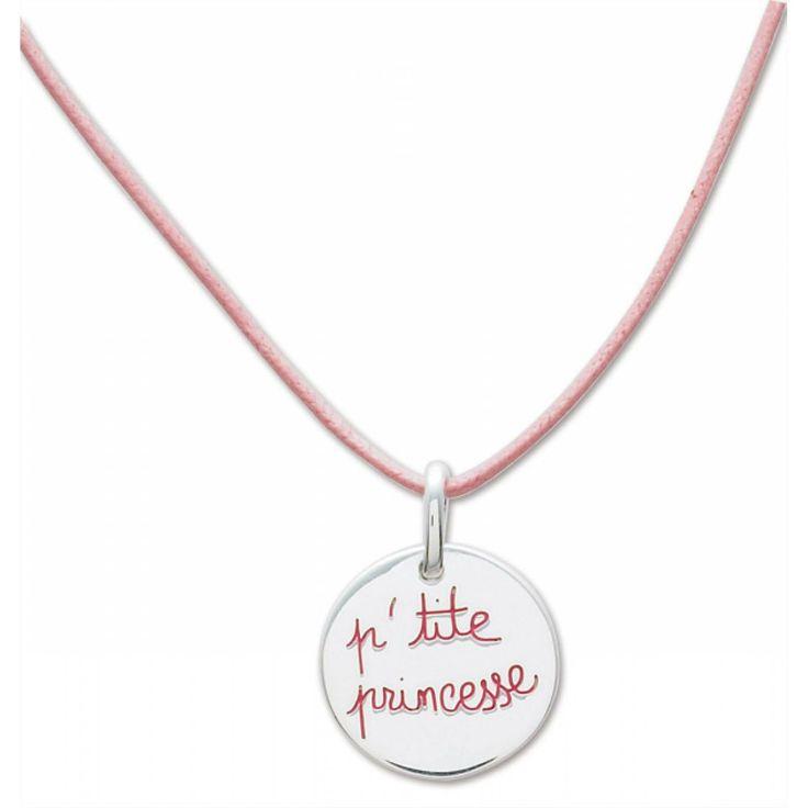 Ladies cotton P'tite princesse pink necklaces - Murat Paris
