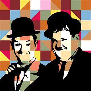 Laurel and Hardy - Lobo - #PopArt www.lobopopart.com.br