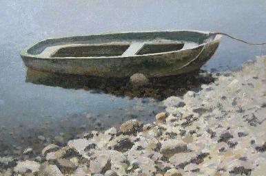 The boat - #scenery by artist Daniil Belov. #landscape #Oil #painting.