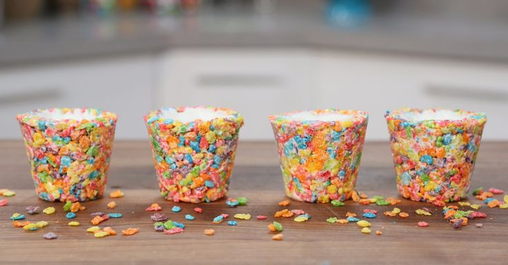 Fruity Pebbles Cereal Shot Glasses