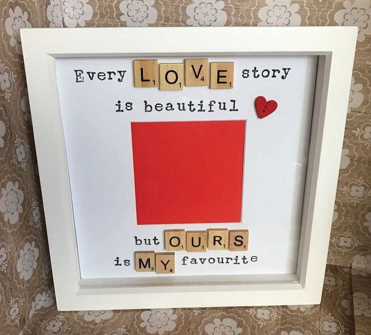 "Here is the perfect gift for a loved one, a scrabble art frame with space for a photograph or special memento! The frame is a wooden deep box frame with the actual frame size being roughly Natural wooden coloured frame: actual frame size 9.5"" x 9.5"" (24.5 http://www.giftideascorner.com/valentines-gifts-special-man/"