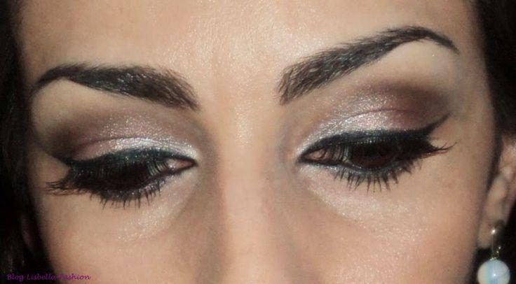 Lisbella Fashion: Maquiagem com sombra neutra + batom roxo.