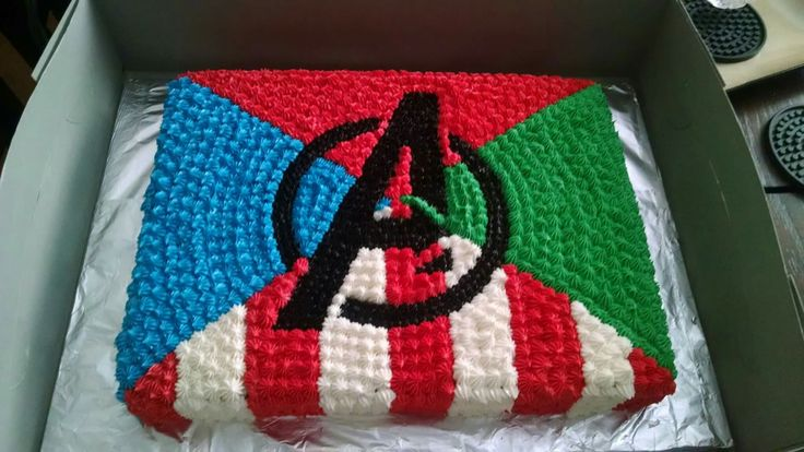 Avengers cake I made for Isaiah's 6th birthday