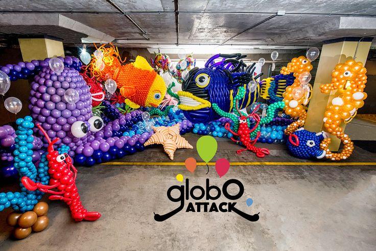 Aqua Dreams , Carnaval de la primavera Valdivia , globos , ballons , arte con globos