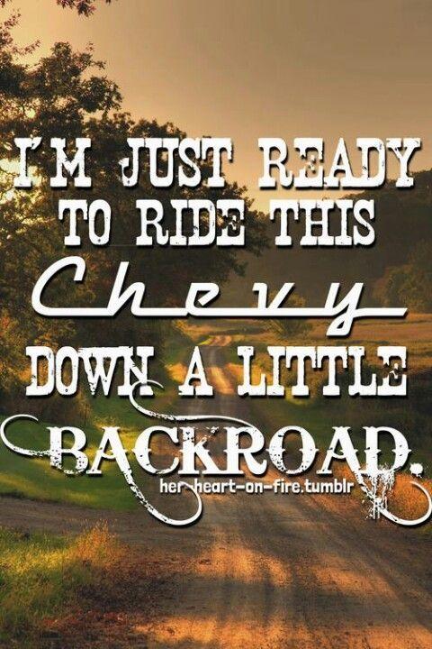 Jason Aldean lyrics, love taking rides in a Chevy