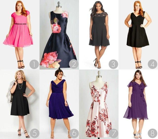 Outside Wedding Plus Size Semi Formal Dresses for Women