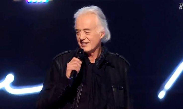 Jimmy Page, British Music Awards, Feb. 2015