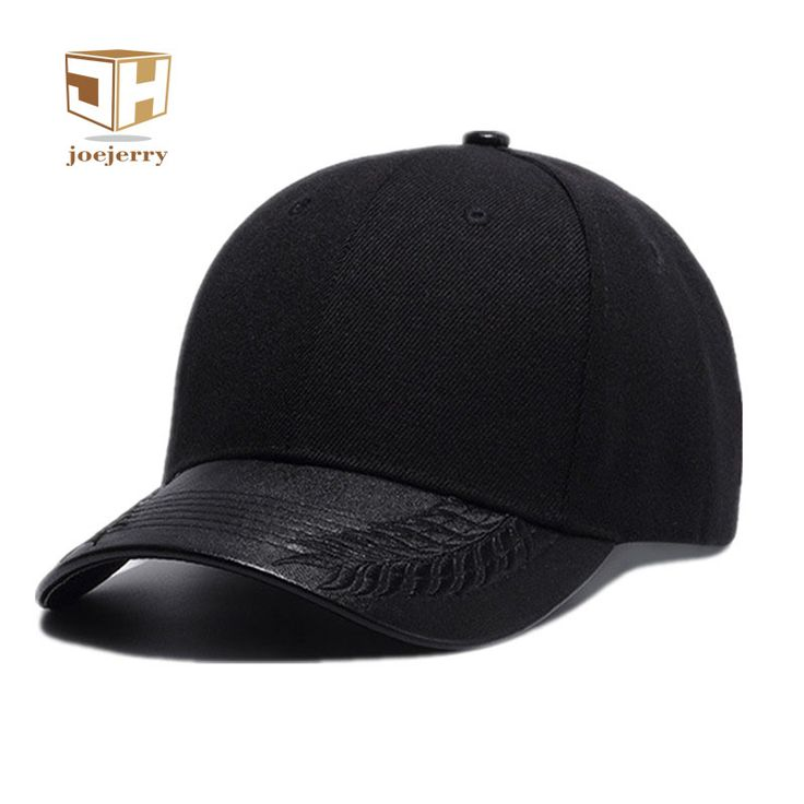 >> Click to Buy << joejerry New Fashion Black Embroidered Baseball Hats Gorras Caps Hip Hop Snapback PU Leather Casual Unisex Hat #Affiliate