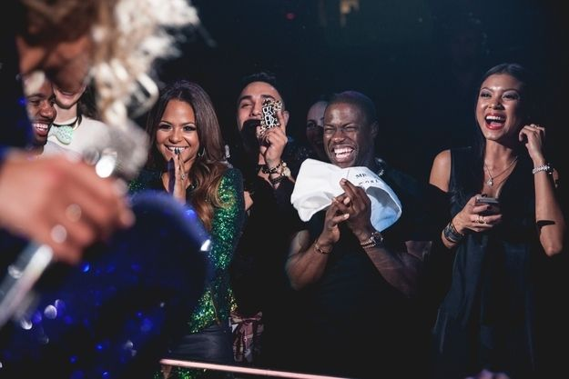 And this is Kevin Hart clutching a towel containing the holy sweat of Beyoncé, a spiritual gift that will change his life forever.   Beyoncé Turns Kevin Hart Into A Screaming, Uncontrollable Fangirl