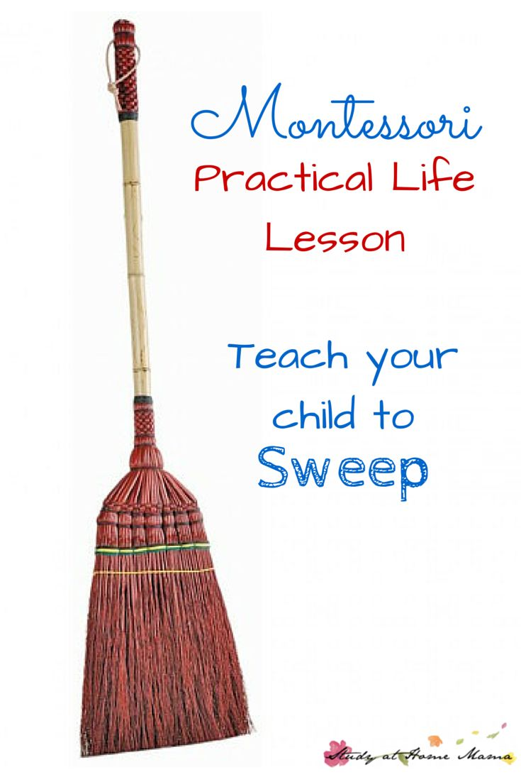 Montessori Practical Life Lesson: Teach Your Child to Sweep