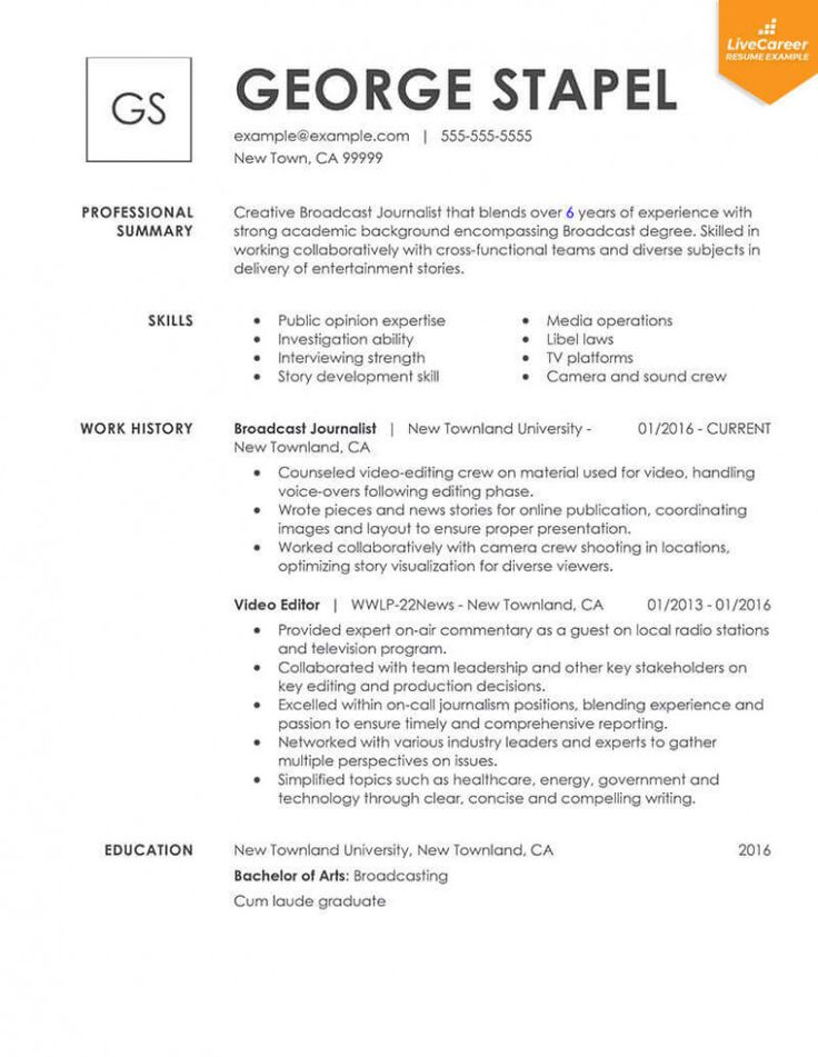 14 Example Of Resume For Job di 2020