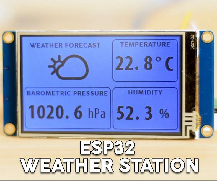 ESP32 WiFi Weather Station With a BME280 Sensor | Raspberry