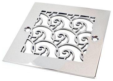 Oceanus Waves Shower Drain - contemporary - showers - Designer Drains