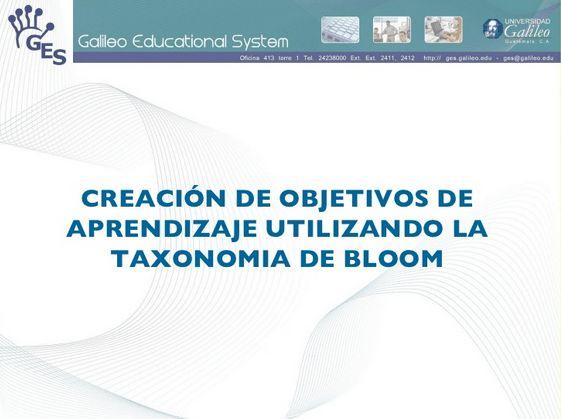 """Hola: Compartimos una interesante presentación sobre """"Cómo Crear Objetivos de Aprendizaje aplicando la Taxonomía de Bloom"""" Un gran saludo.  Visto en: slideshare.net Acceda a la pr…"""