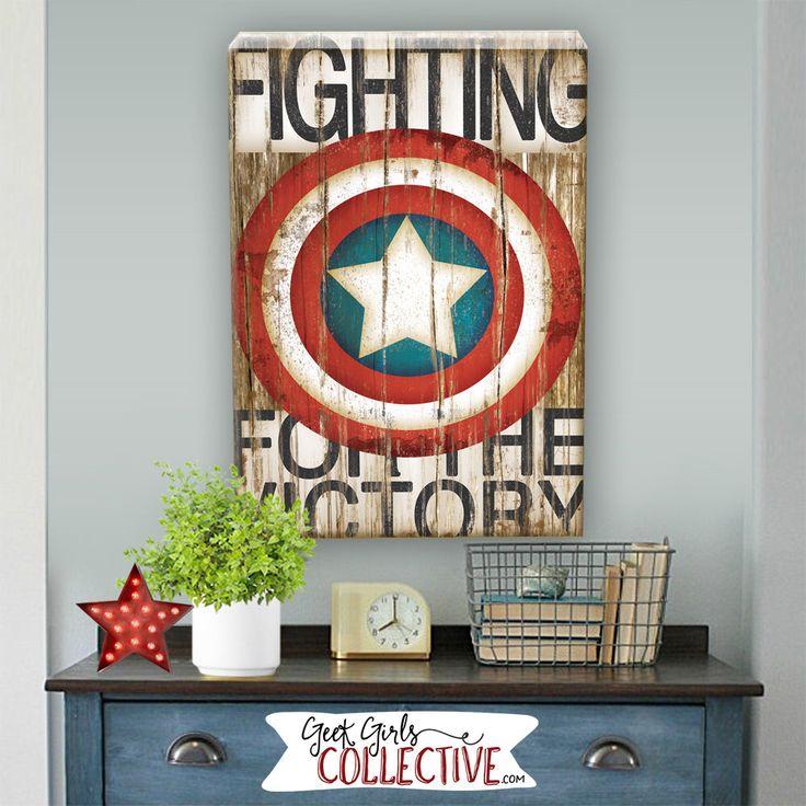 Captain America Art Print -Comic Art, Vintage, Home, Wall Decor -Superhero, Avengers, Children, Men, Women-Red, White, Blue, Brown, Black by GeekGirlsCollective on Etsy https://www.etsy.com/listing/245565685/captain-america-art-print-comic-art