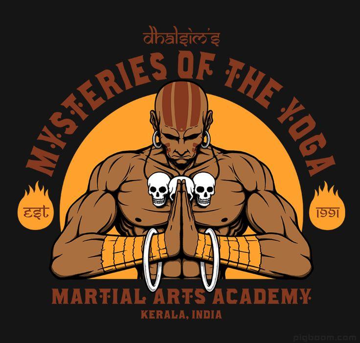 Dhalsim Yoga Martial Arts Street Fighter T-shirt