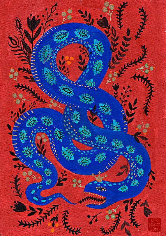 Snake par mirdinara sur etsy peinture pinterest - Peinture effet serpent ...
