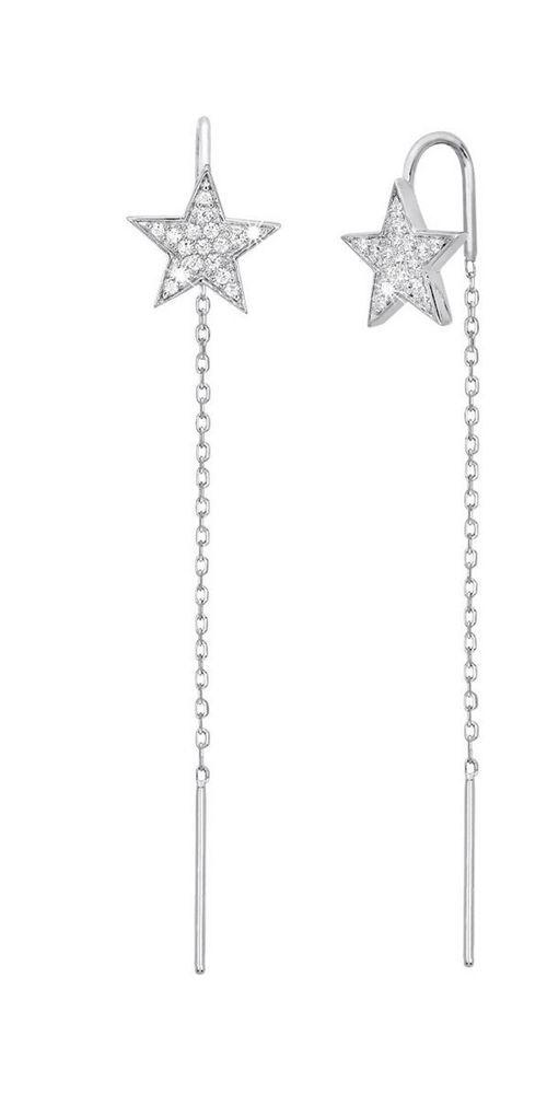 Mabina ORECCHINI PENDENTI stelle in ARGENTO con zirconi 563123